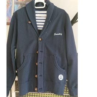 ランドリー(LAUNDRY)の【laundry】紺色アウター(ノーカラージャケット)