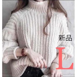 エイチアンドエム(H&M)の2020 AW 新作 H&M チャンキーニット リブニットタートルネックセーター(ニット/セーター)