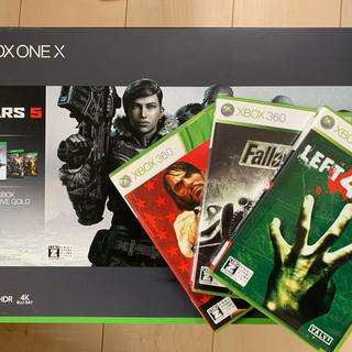 エックスボックス(Xbox)の未使用コード+美本体+補償書+おまけ!Xbox One X GEARS 5(家庭用ゲーム機本体)