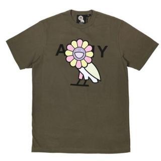村上隆 OVO X MURAKAMI T-SHIRT(OLIVE) お花(Tシャツ/カットソー(半袖/袖なし))