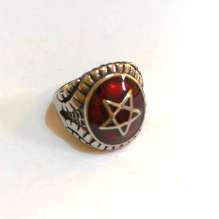 五芒星リング 指輪  赤色14号(リング(指輪))