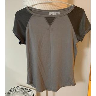アルマーニエクスチェンジ(ARMANI EXCHANGE)のアルマーニエクスチェンジ A/X シルバーグレートップス(Tシャツ(半袖/袖なし))