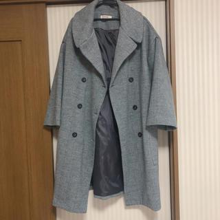 ディーホリック(dholic)の美品 ディーホリック ヘリンボーン柄コート(ロングコート)