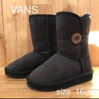 ヴァンズ(VANS)のバンズ VANS  ムートンブーツ キッズ 16㎝(ブーツ)