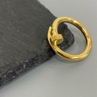 ステンレス ゴールド一本釘リング くぎ リング ゴールドリング (リング(指輪))
