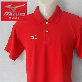 ミズノ(MIZUNO)の【mizuno】 良品 ミズノ レッド半袖ワンポイントポロシャツ サイズM(ウエア)