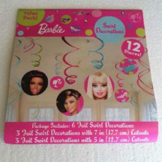 バービー(Barbie)のバービー パーティーグッズ barbie お部屋に飾れる 新品 (キャラクターグッズ)