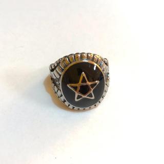 五芒星リング 指輪  黒色14号(リング(指輪))