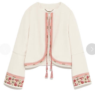 リリーブラウン(Lily Brown)のリリーブラウン   コード刺繍ジャケット(ノーカラージャケット)