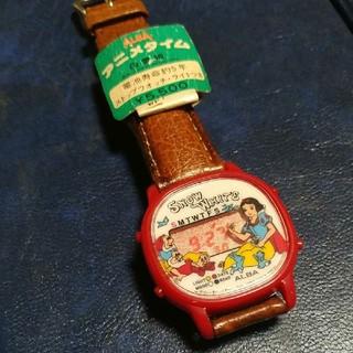 アルバ(ALBA)のALBA 腕時計 白雪姫 昭和レトロ 赤い液晶(腕時計)