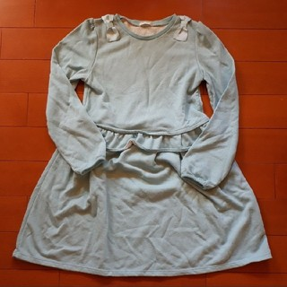 GU - GU 肩リボン スウェットワンピース