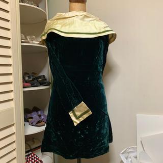 GUNNE SAX - Velvet mini dress ③green