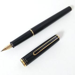 パイロット(PILOT)のパイロット 万年筆 黒×ゴールド 金属素材(ペン/マーカー)