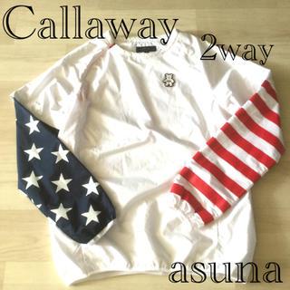キャロウェイゴルフ(Callaway Golf)の美品 キャロウェイ ベアースター 星条旗 2wayスニードウィンドウブレーカー(ウエア)