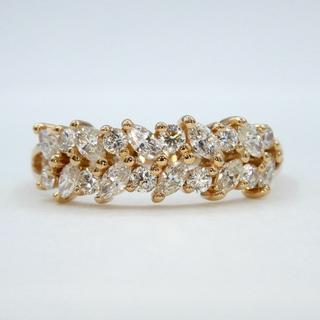 K18PG ピンクゴールド 0.46ct ダイヤモンド リング (リング(指輪))