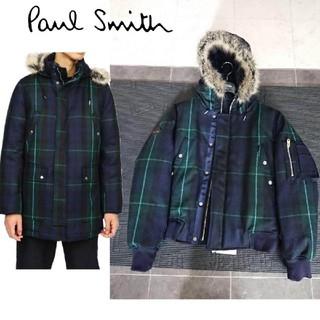 ポールスミス(Paul Smith)のポールスミス 18aw オーバーペン ブラックウォッチ ダウンジャケット(ダウンジャケット)