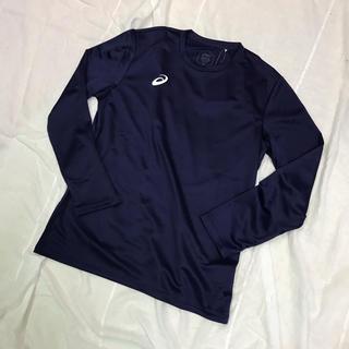 asics - 新品 タグ付き未使用品 アシックス Lサイズ 長袖Tシャツ 紺ネイビー