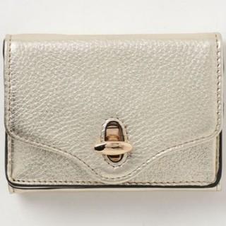 ユナイテッドアローズ(UNITED ARROWS)のユナイテッドアローズ hasibami ハシバミミニ 財布 レディース ゴールド(財布)