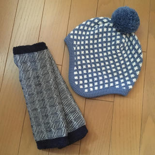 familiar - 北欧柄 ファミリア ニット帽 ハンドウォーマー