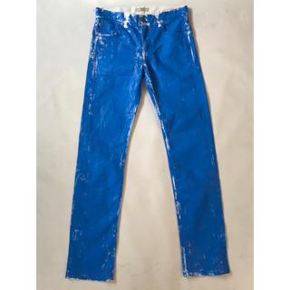 マルタンマルジェラ(Maison Martin Margiela)の確認用 GETEMONTS Paint Blue Apron Pants(デニム/ジーンズ)