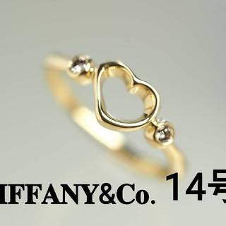 ティファニー(Tiffany & Co.)の質流れ品WF!TIFFANY&Co. ティファニー 14号 オープンハートリング(リング(指輪))