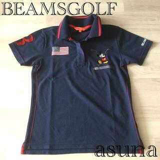 ビームス(BEAMS)の未使用 ビームスゴルフ ミッキーポロシャツ レディースS(ウエア)