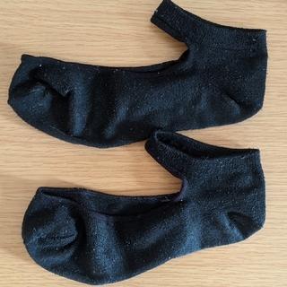 ジーユー(GU)の黒くるぶしソックス(靴下/タイツ)