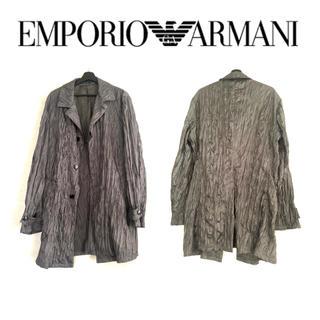 エンポリオアルマーニ(Emporio Armani)のEMPORIO ARMANI JOSH LINE コート グレー シワ加工(テーラードジャケット)