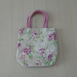ローラアシュレイ(LAURA ASHLEY)の新品☆ローラアシュレイ シェニール織りバッグ(ハンドバッグ)