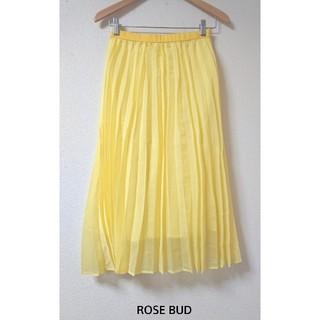 ローズバッド(ROSE BUD)のタグ付き新品! プリーツロングスカート 9,790円(ロングスカート)