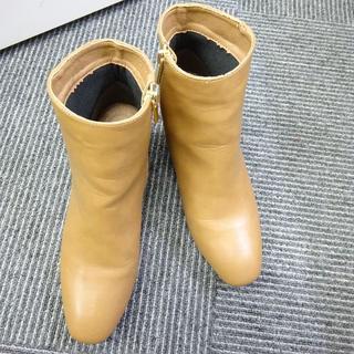 テチチ(Techichi)のテチチ レザー ショート ブーツ キャメル サイズ38(ブーツ)