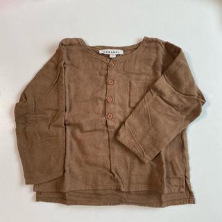 キャラメルベビー&チャイルド(Caramel baby&child )のcaramel コットン シャツ 12m 74 80 (シャツ/カットソー)