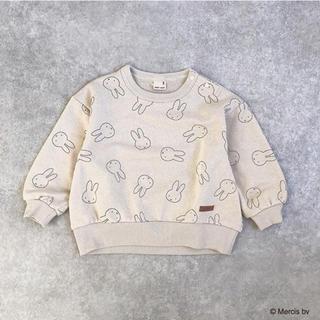 プティマイン(petit main)のpetitmain プティマイン miffy ミッフィー総柄トレーナー(Tシャツ/カットソー)
