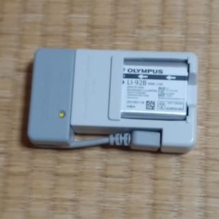 オリンパス(OLYMPUS)のオリンパス 充電器セット UC-90+LI-92Bバッテリー(バッテリー/充電器)