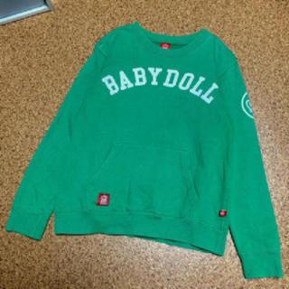ベビードール(BABYDOLL)の値下げ‼︎  BABY DOLL★緑ロゴトレーナー★S(その他)