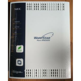 エヌイーシー(NEC)の無線LANルーターNEC Aterm WR8300N WARPSTAR 通電OK(その他)