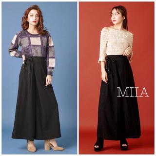 ミーア(MIIA)のMIIA♡アシメ ロイヤルパーティー スナイデル リリーブラウン mystic(カジュアルパンツ)
