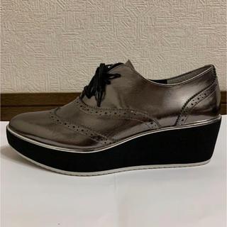 シルバー シューズ 靴 厚底