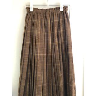 ドアーズ(DOORS / URBAN RESEARCH)のurban reserch チェックプリーツスカート かぐれ(ロングスカート)