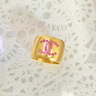 シャネル(CHANEL)の正規品 シャネル 指輪 ゴールド ココマーク ハート 石 リバーシブル リング3(リング(指輪))