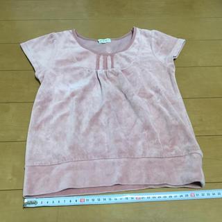 サンカンシオン(3can4on)の3can4on★スエード 半袖 120 ピンク 1444(Tシャツ/カットソー)