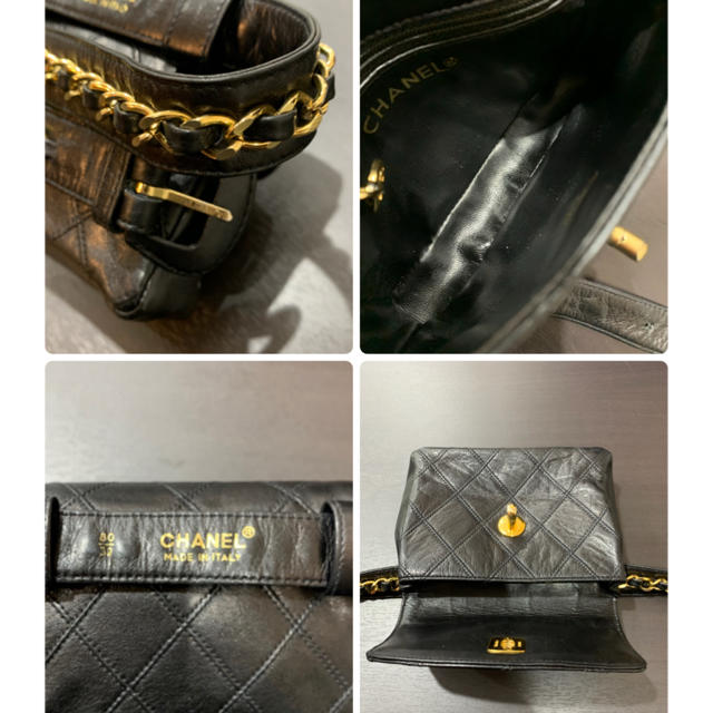 CHANEL(シャネル)の美品 希少 シャネル ウエストポーチ マトラッセ ラム ボディバッグ チェーン レディースのバッグ(ボディバッグ/ウエストポーチ)の商品写真