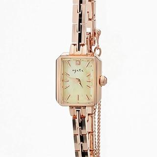 アガット(agete)のアガット スクエアフェイス ジュエリーウォッチ 腕時計(腕時計)