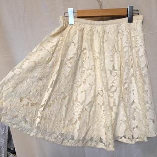 エストネーション(ESTNATION)の感謝sale❤️3421❤️ESTNATION❤️上品&可愛いレース花柄スカート(ひざ丈スカート)
