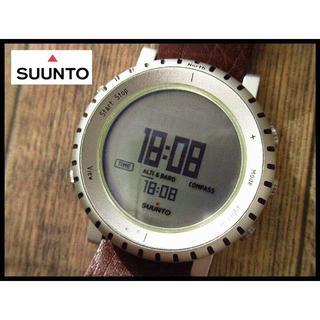 SUUNTO - 希少 SUUNTO スント コア アルミ ライト レザーベルト デジタル 腕時計