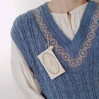 ロキエ(Lochie)のvintage cotton knit vest(ベスト/ジレ)