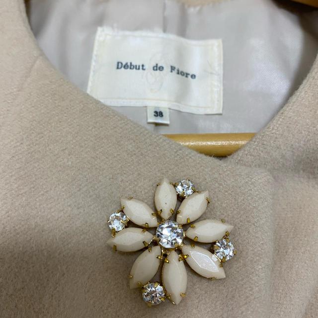 Debut de Fiore(デビュードフィオレ)の【お値下可】Debut de Fiore コクーンコート レディースのジャケット/アウター(ロングコート)の商品写真