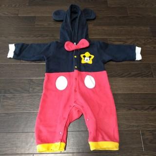 ディズニー(Disney)のミッキー ロンパース カバーオール 70 男女兼用 男の子 女の子 ベビー服(ロンパース)