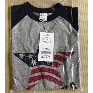 トゥデイフル(TODAYFUL)の新品 未使用 sundays sun プリントラグラン長袖Tシャツ ネイビー(Tシャツ/カットソー)