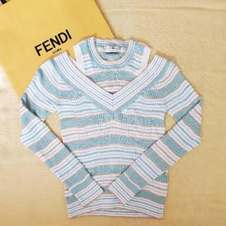 フェンディ(FENDI)の新品美品★Fendi ボーダートップス(カットソー(長袖/七分))